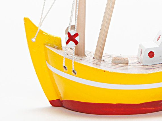 Wooden Boat  Fishing Boat  Trawler / Handmade  Hand by oyma on etsy.