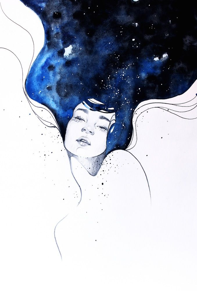Image Of With Her Mind In Space By Kelogsloops Gravure
