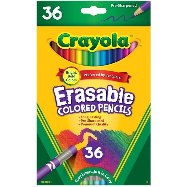 Gift for Kids School /& Art Supplies Crayola Erasable Colored Pencils 12 Count