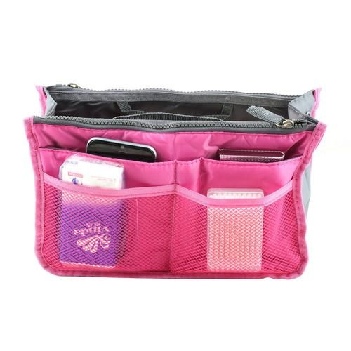 2016 1Pc New Nylon Multifunction Make up Makeup Organizer Bag Women Bags Ourdoor Travel Insert Bag Handbag Bolsas High Quality