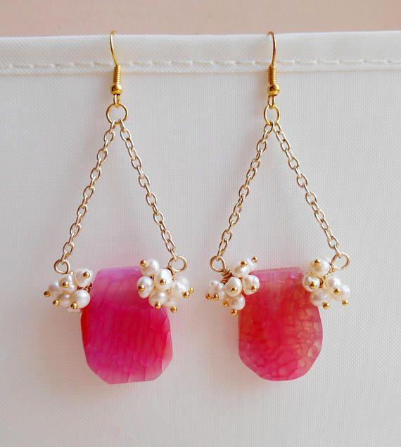 Sylvie pink gemstone chandelier earrings pearl cluster earrings diy jewelry tutorials sylvie gemstone chandelier earrings aloadofball Choice Image