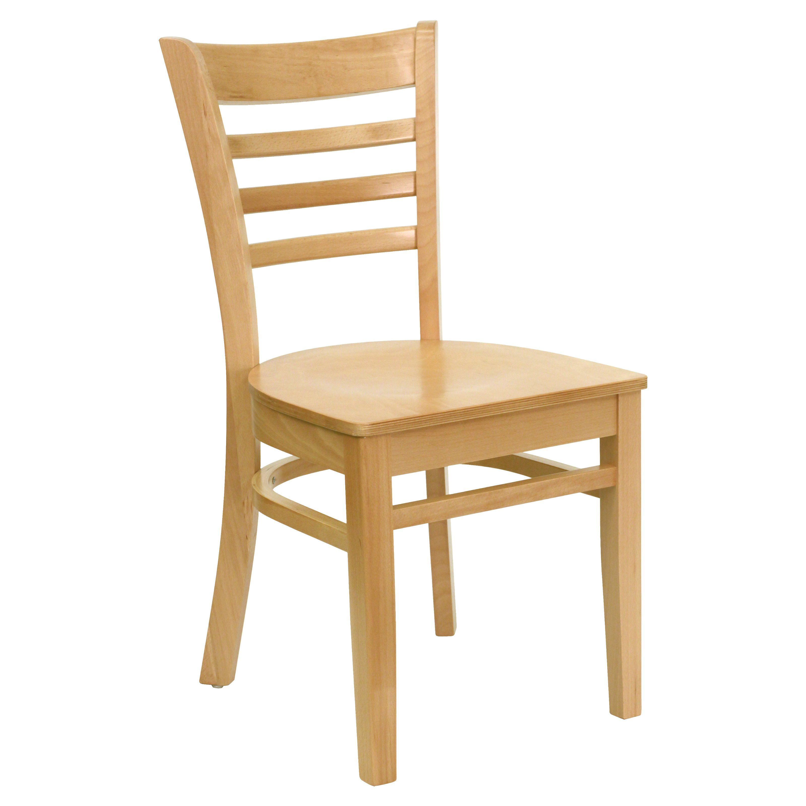 Flash Furniture Hercules 17.75 In. Wood Ladder Back Restaurant Chair    XU DGW0005LAD
