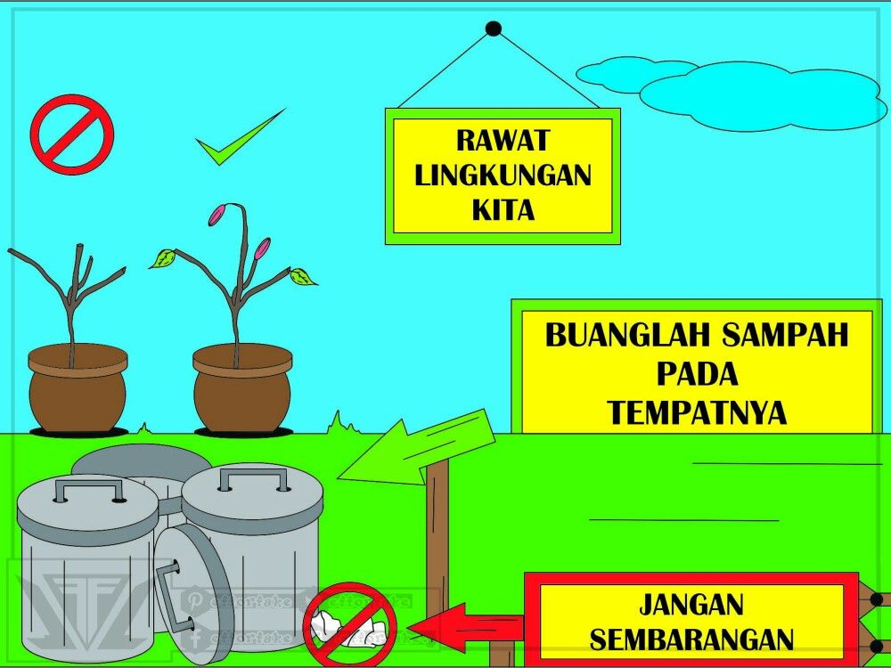 Kebersihan Lingkungan Poster Buku Mewarnai Pembersihan