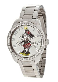 181d6ae8b Mickey Mouse Clock, Disney Mickey Mouse, Classic Mickey Mouse, Swarovski  Crystals, Image