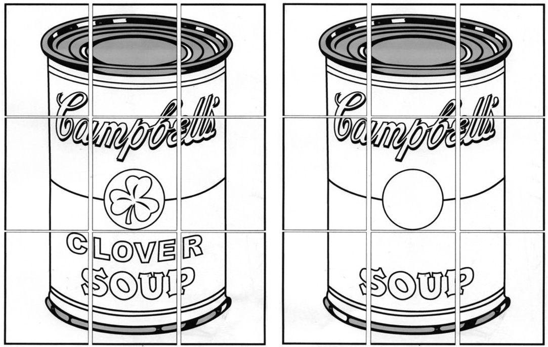 Andy Warhol Soup Can Coloring Page Kids Art Projects Warhol Art