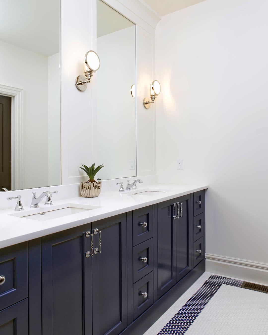 Friday\'s Favourites   Navy bathroom, Bathroom vanities and Vanities