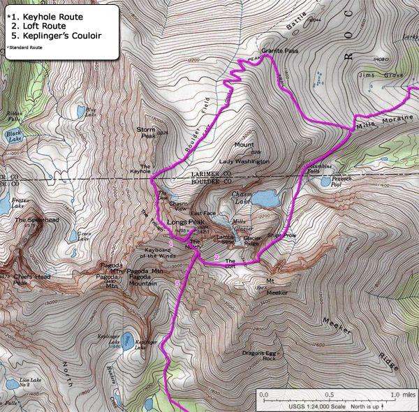 Longs Peak Route Fourteeners Pinterest Mountain climbing