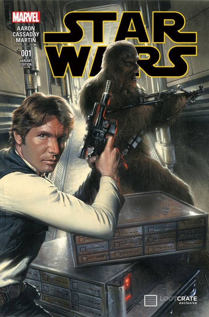 Star Wars #1 variant cover - Han Solo and Chewbecca by Gabriele Dell'Otto *