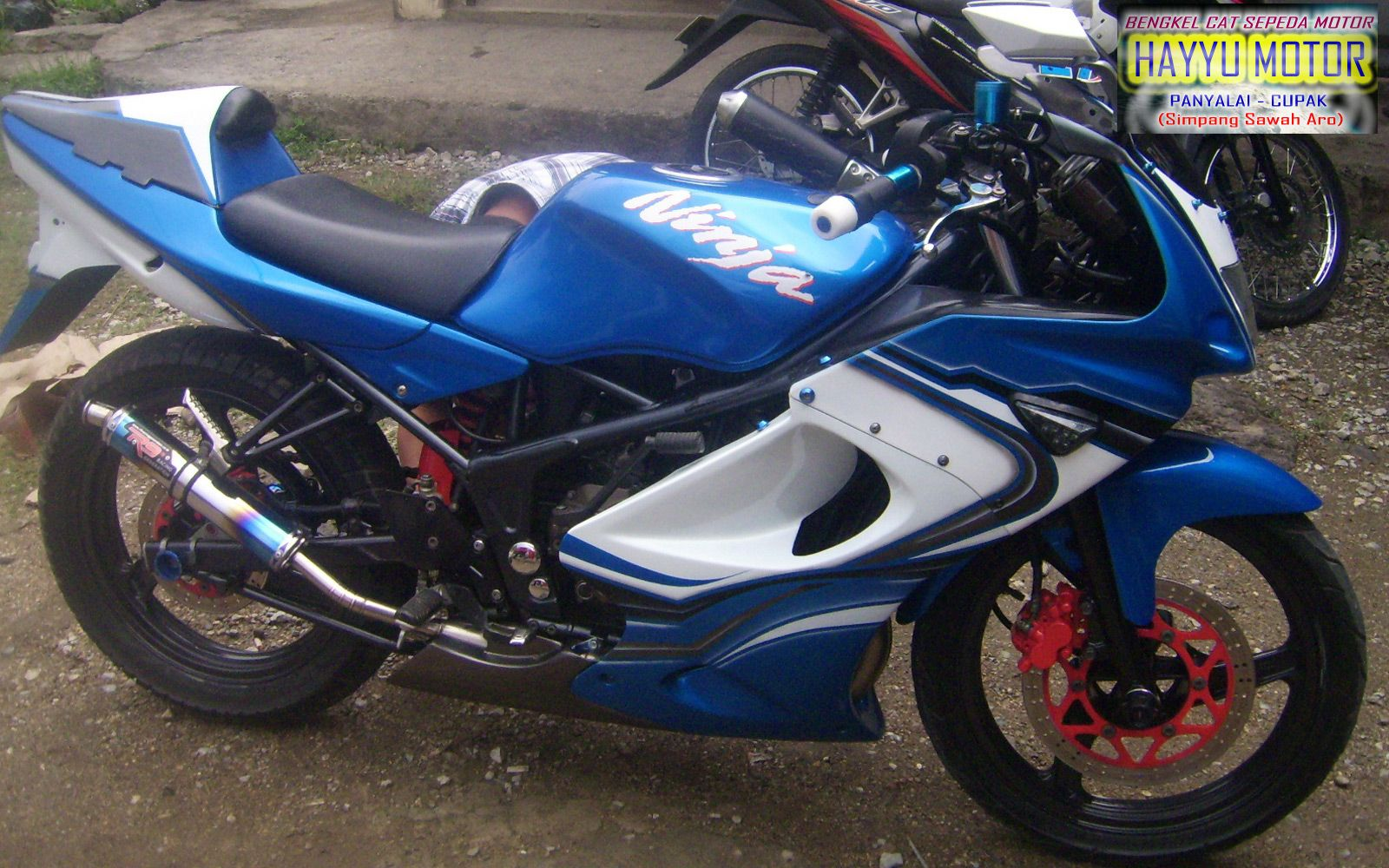 Kumpulan Modifikasi Motor Ninja R Warna Biru Terbaru