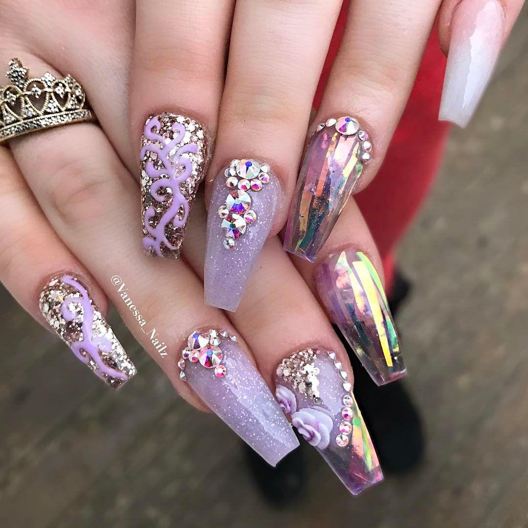 Pin by Kathy N. on Nails. ♡ | Lavender nails, Nail designs ...