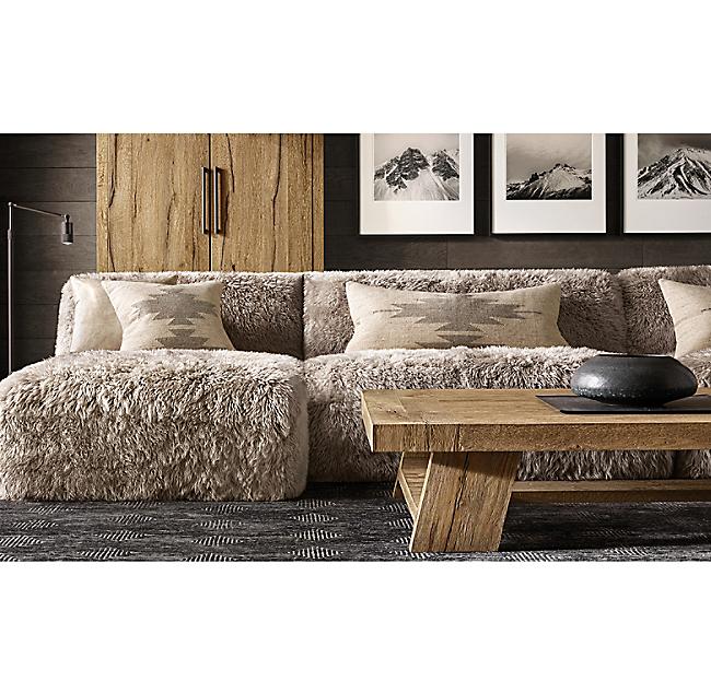 Yeti Sheepskin U Sofa Sectional In 2020 Cabin Furniture French Dining Chairs Home Decor