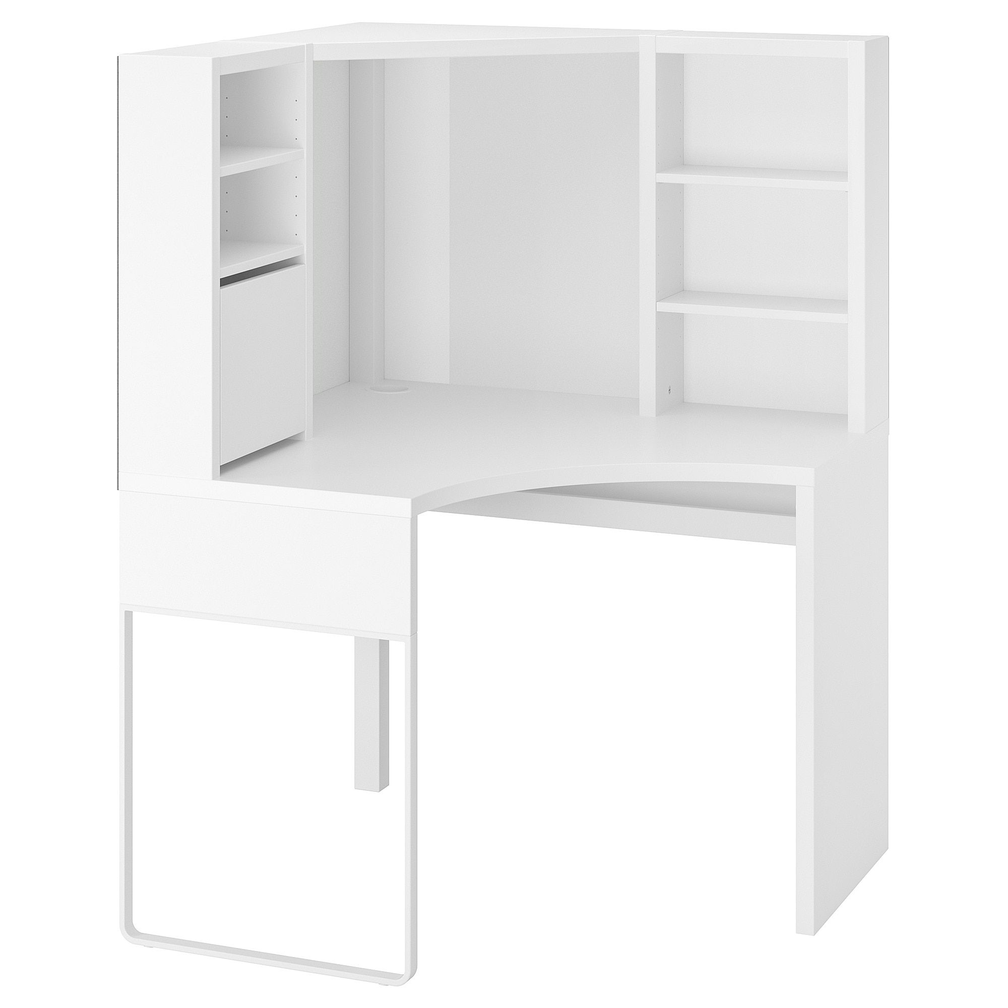 Micke Corner Workstation Black Brown 39 3 8x55 7 8 Ikea Corner Workstation White Corner Desk Home Office Furniture