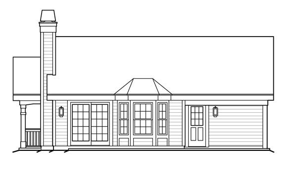 Cottage Country Ranch House Plan 87813 Rear Elevation