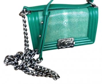 e9cd54831cf6 Chanel Le Boy Green Cross Body Bag $5,500 *add to my Christmas list please!