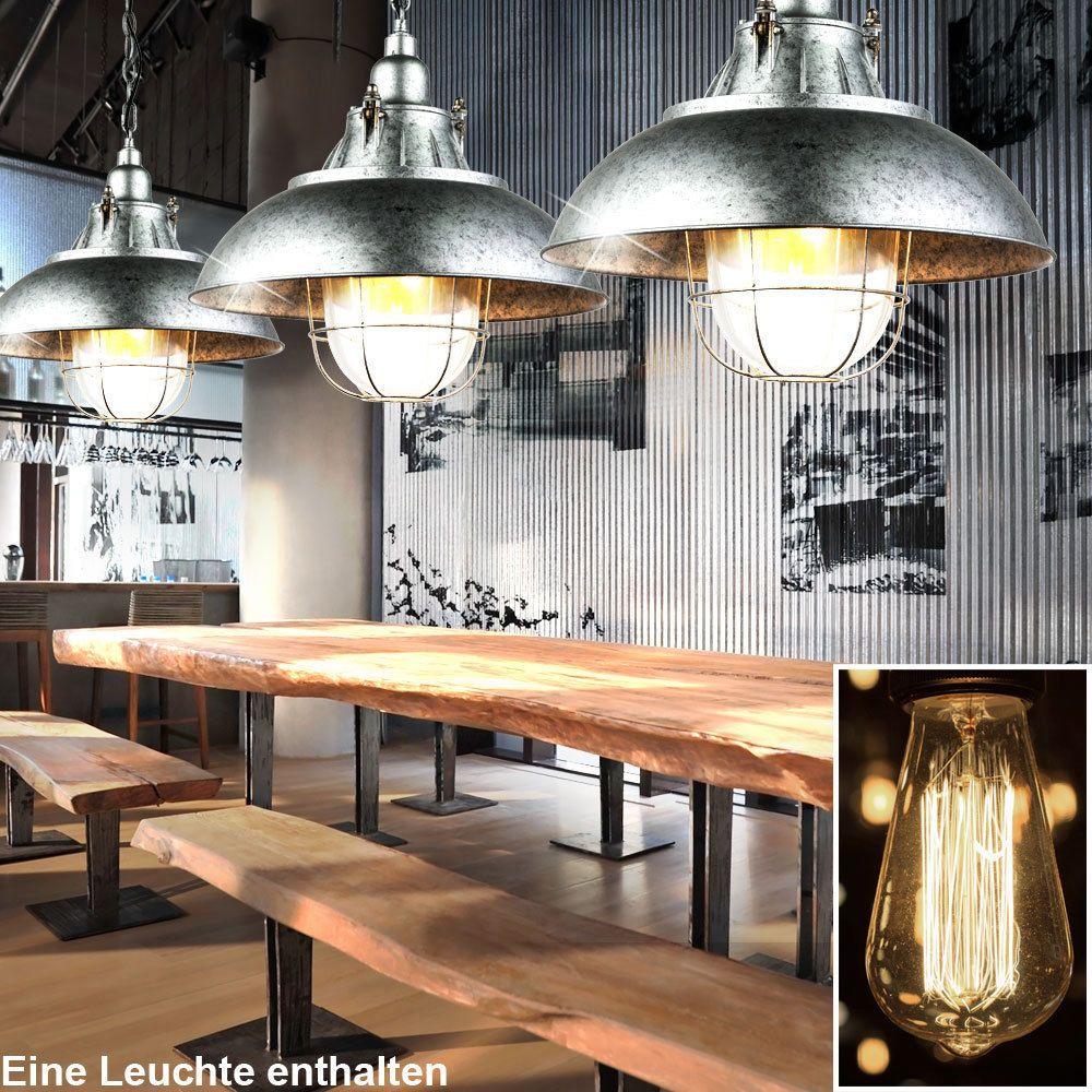 LED Decken Hänge Lampe Loft Industrie Design Retro Pendel