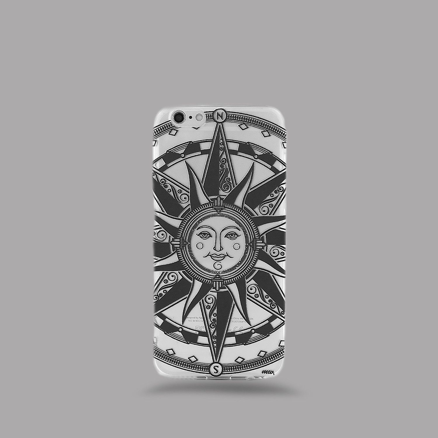 Clear TPU Case Cover - Compass Tribal Sun – Milkyway