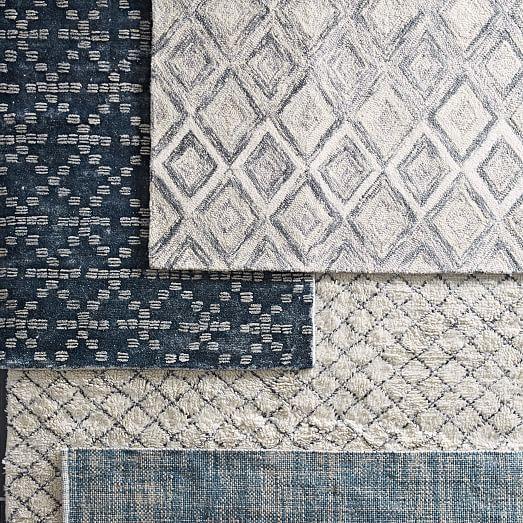 Prism Wool Rug Slate West Elm