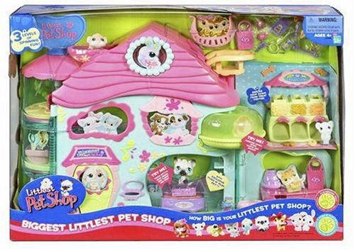 Amazon Com Hasbro Biggest Littlest Pet Shop Playset Discontinued By Manufacturer Toys Games Lps Toys Little Pet Shop Toys Lps Littlest Pet Shop
