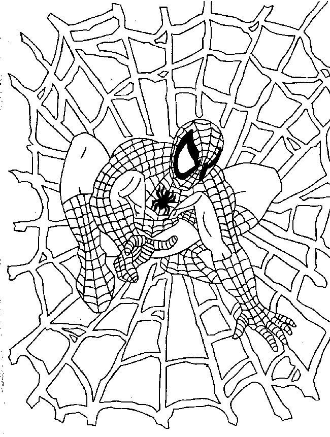 Spiderman coloring | School age crafts and projects | Pinterest ...
