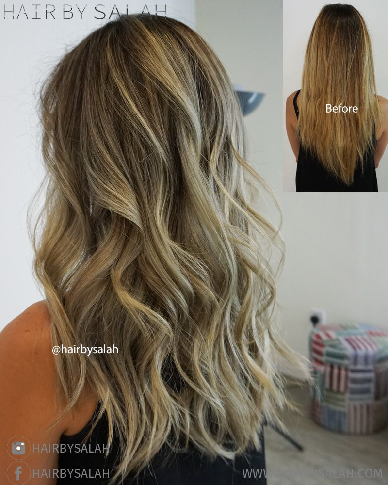 Before And After Soft Light Ash Blonde From Hair By Salah