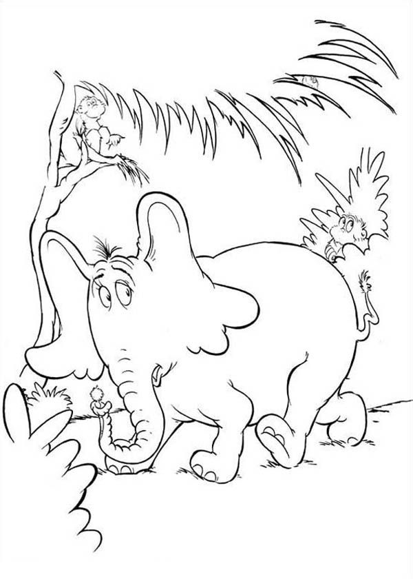 Dr Seuss Horton Hears A Who Coloring Pages With Images Dr