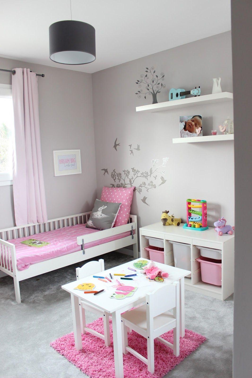 Chambre de petite fille  Deco chambre fillette, Deco chambre