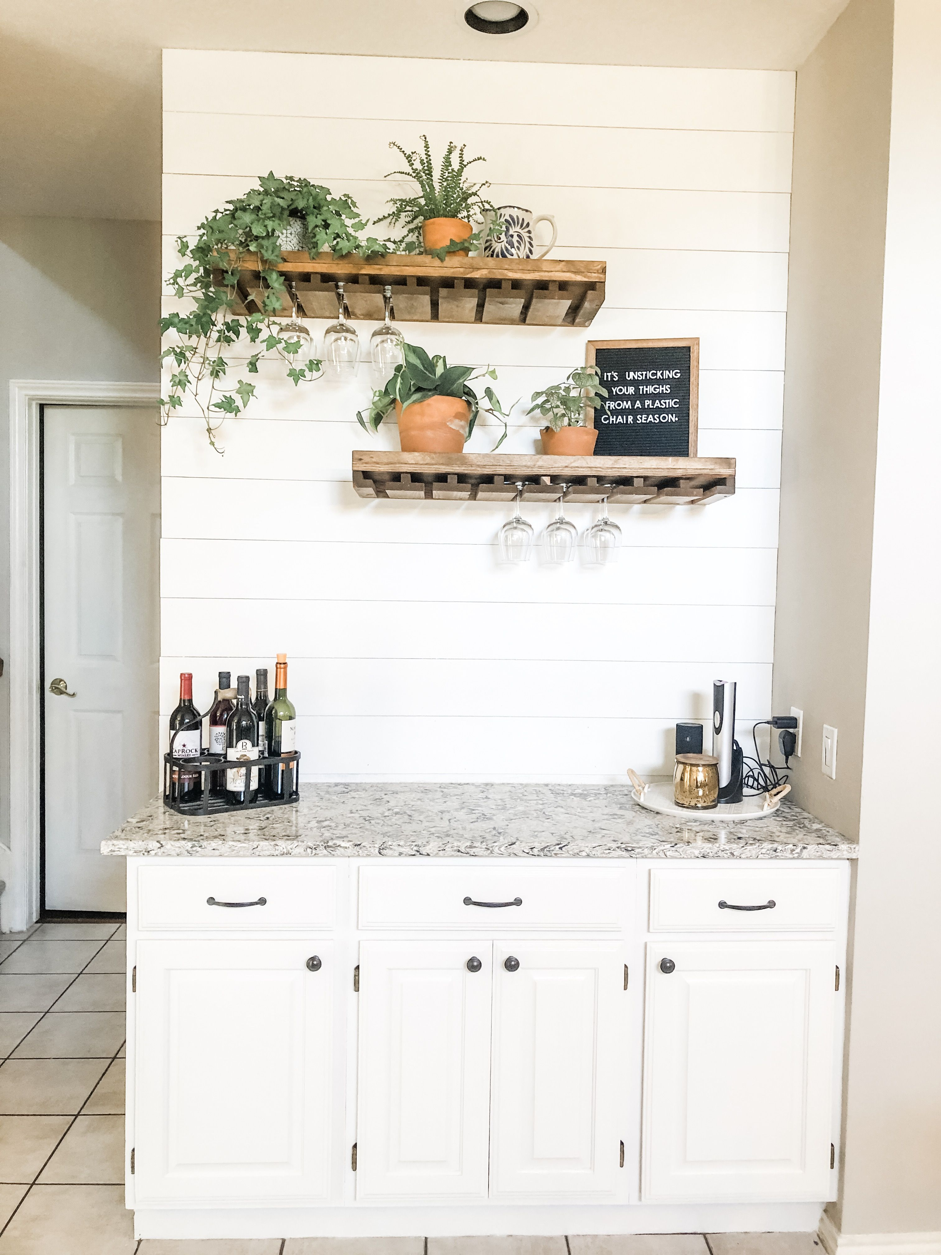 Bernardo Solid Wood Wall Mounted Wine Glass Rack Home Bar Areas Home Decor Kitchen Kitchen Remodel