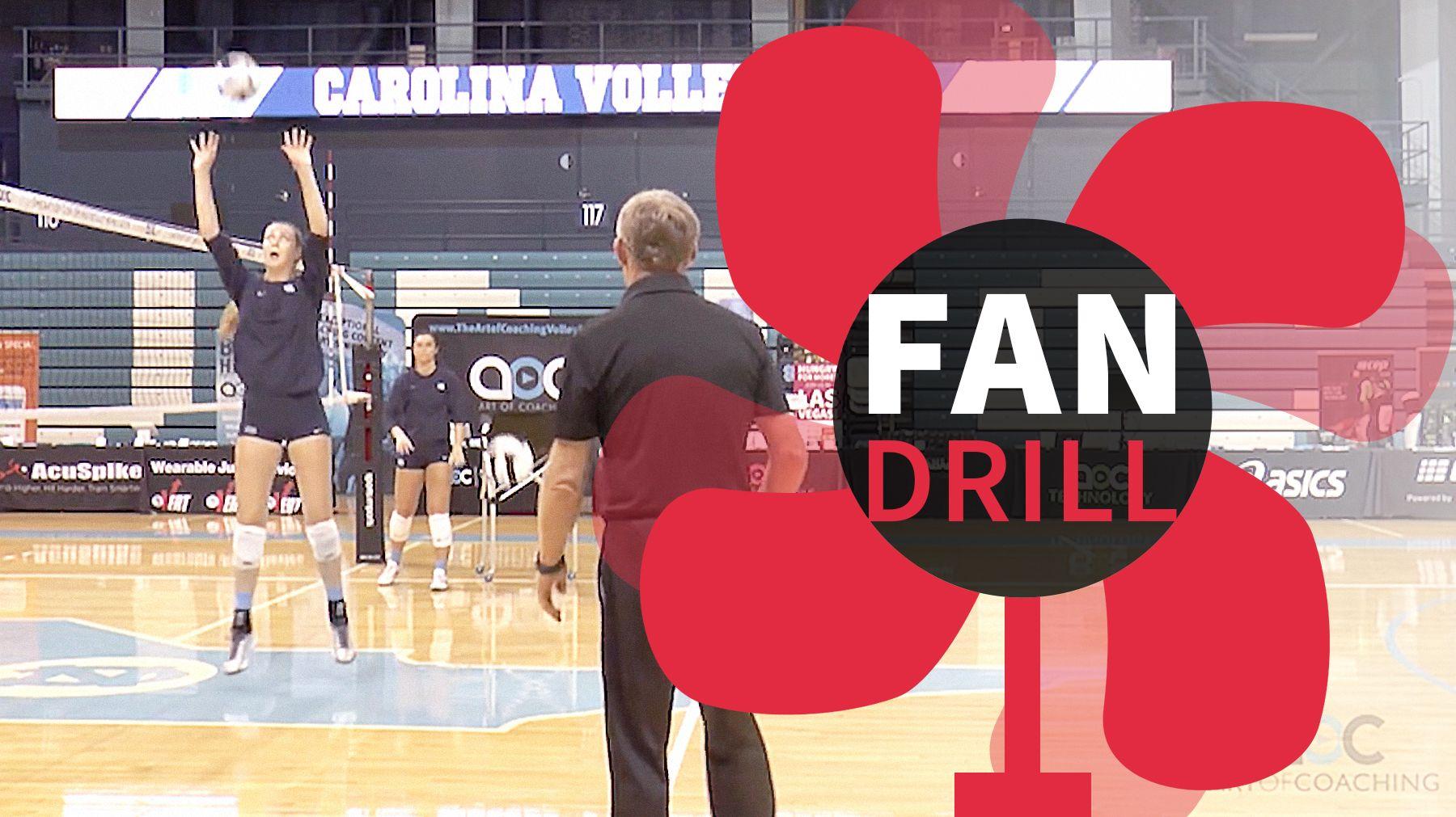 Setting Basics The Fan Drill The Art Of Coaching Volleyball Coaching Volleyball Volleyball Practice Volleyball Skills