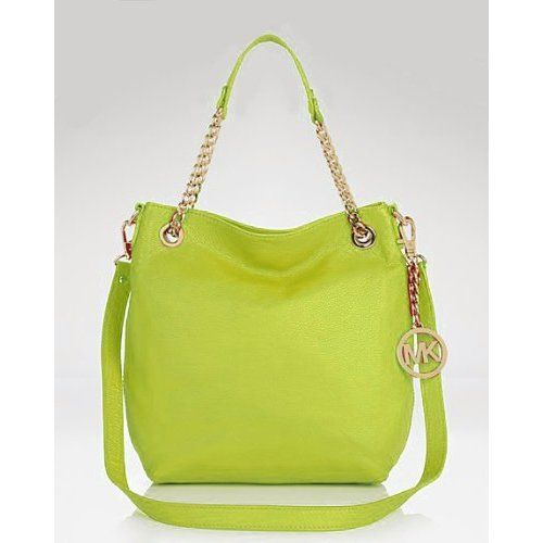 Amazon.com: MICHAEL Michael Kors Tote - Chain Strap LIME