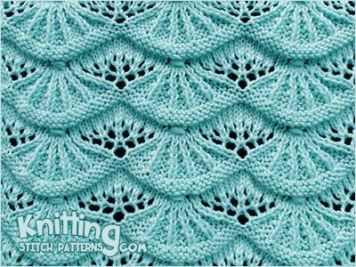 Lovely Knitted Lace Stitch Called Alsacian Scallop Written