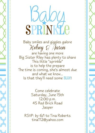 Baby Sprinkle Shower Invitation Ideas For Boy With Lime And Teal