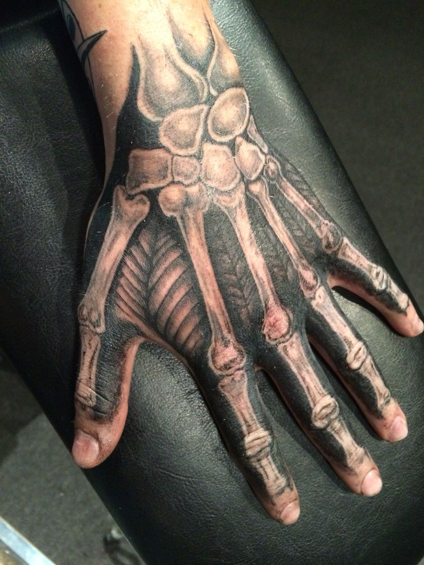 skeleton hand tattoo alex frew
