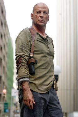 John McClane from Die Hard as played by Bruce Willis