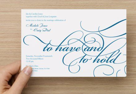 vista print - to have & to hold | invitations | pinterest | ateliers, Einladungsentwurf