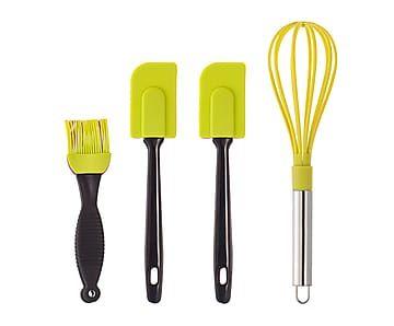 Set de 4 utensilios para repostería en de silicona - pistacho ...