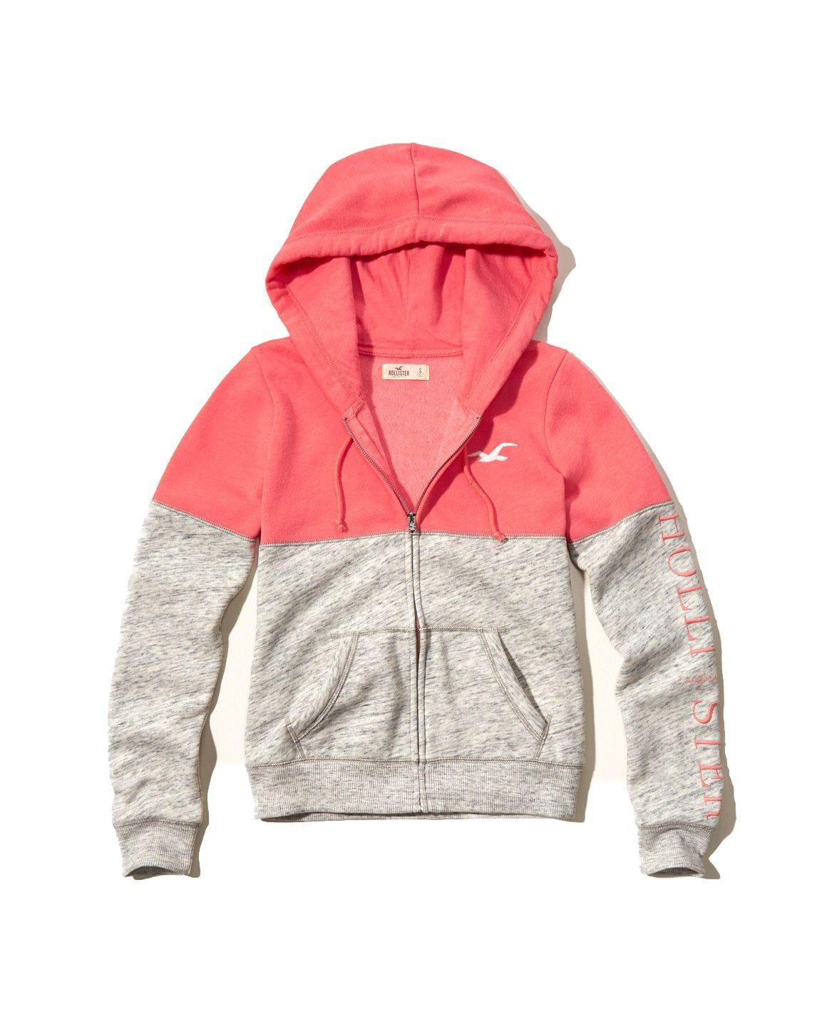 Clothing · Hollister Womens Shine Logo Graphic Hoodie Pink