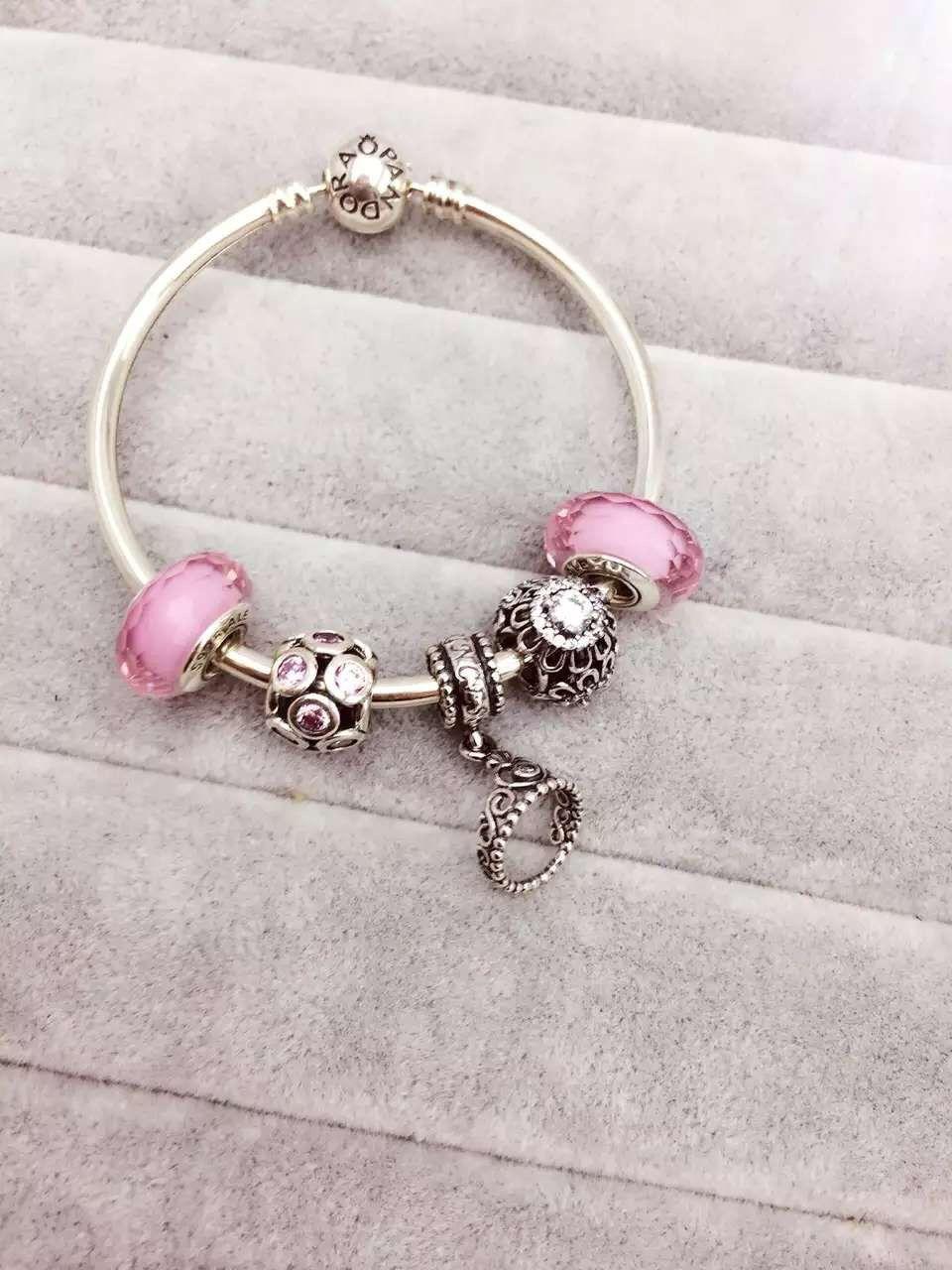 893a63a5a0d63 50% OFF!!! $159 Pandora Bangle Charm Bracelet Pink. Hot Sale!!! SKU ...