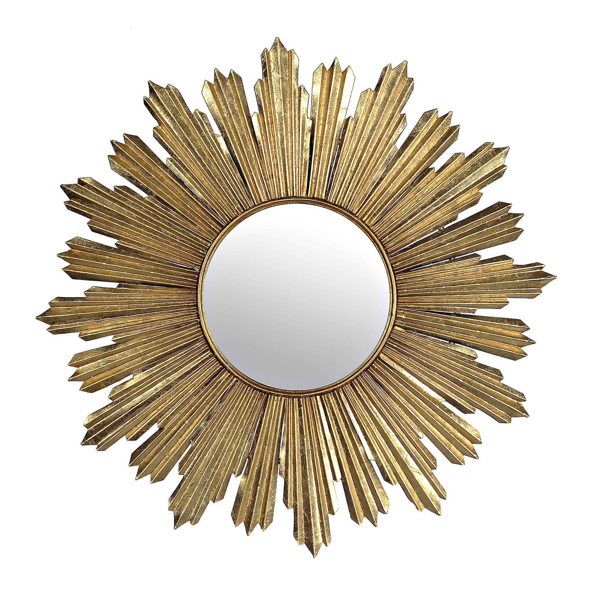 Gold Metallic Starburst Mirror Gold Starburst Mirror Starburst Mirror Mirror