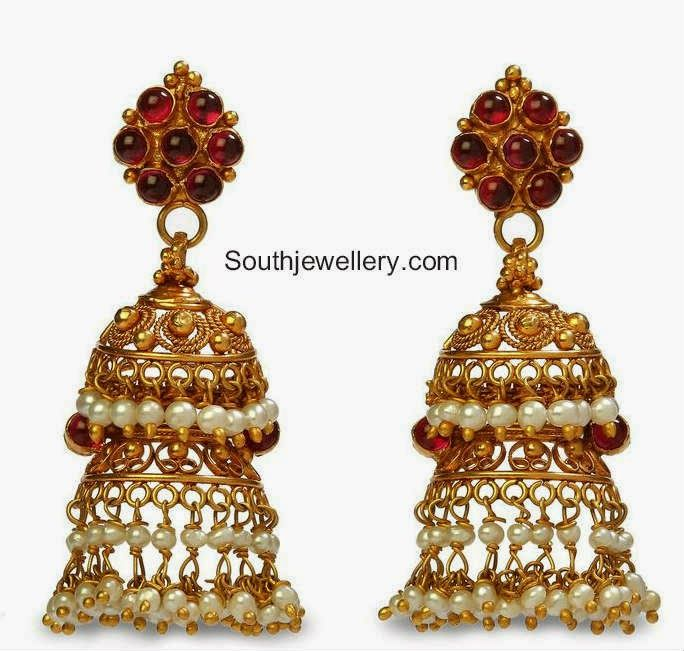 two step jhumkas addicted to jewelry Pinterest