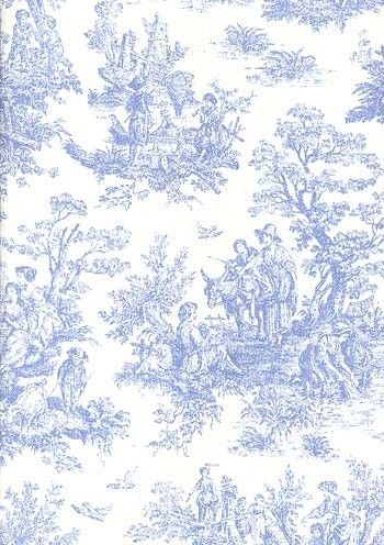 Jamestown Toile Home Decor 54 Inch Wide Fabric Baby Blue