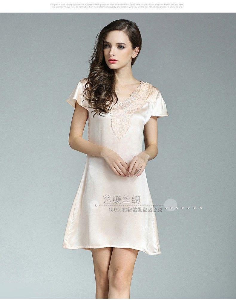Womens Silk Sleep Shirts - BCD Tofu House 38f41b130633
