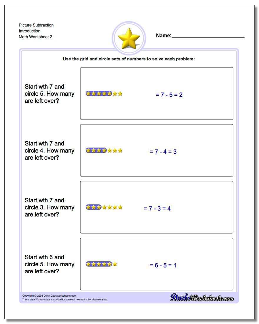 Subtraction Worksheets That Are Excellent First Introduction To Division Concepts Subtraction Ma Math Subtraction Subtraction Word Problems Math Worksheets [ 1100 x 880 Pixel ]
