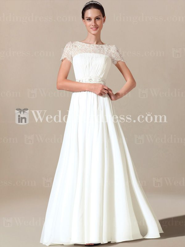 Simple Wedding Dress with Short Sleeves SV005 | Shops, Modest ...