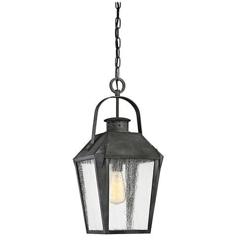 Quoizel Carriage 21 1 4 High Black Outdoor Hanging Light 19w08 Lamps Plus Outdoor Hanging Lights Outdoor Hanging Lanterns Outdoor Pendant Lighting