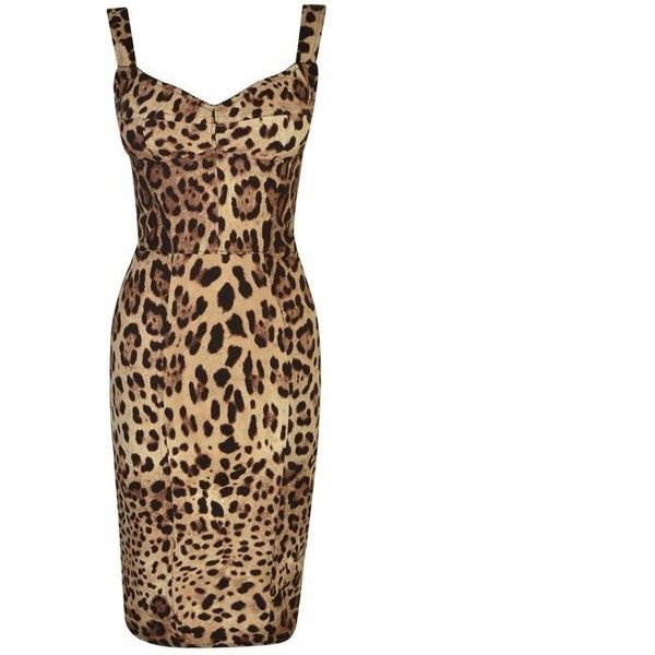 d42258135d0a Dolce And Gabbana Leopard Bodycon Dress ($2,110) ❤ liked on Polyvore  featuring dresses, leo macchia, body con dress, leopard print dresses, silk  dress, ...