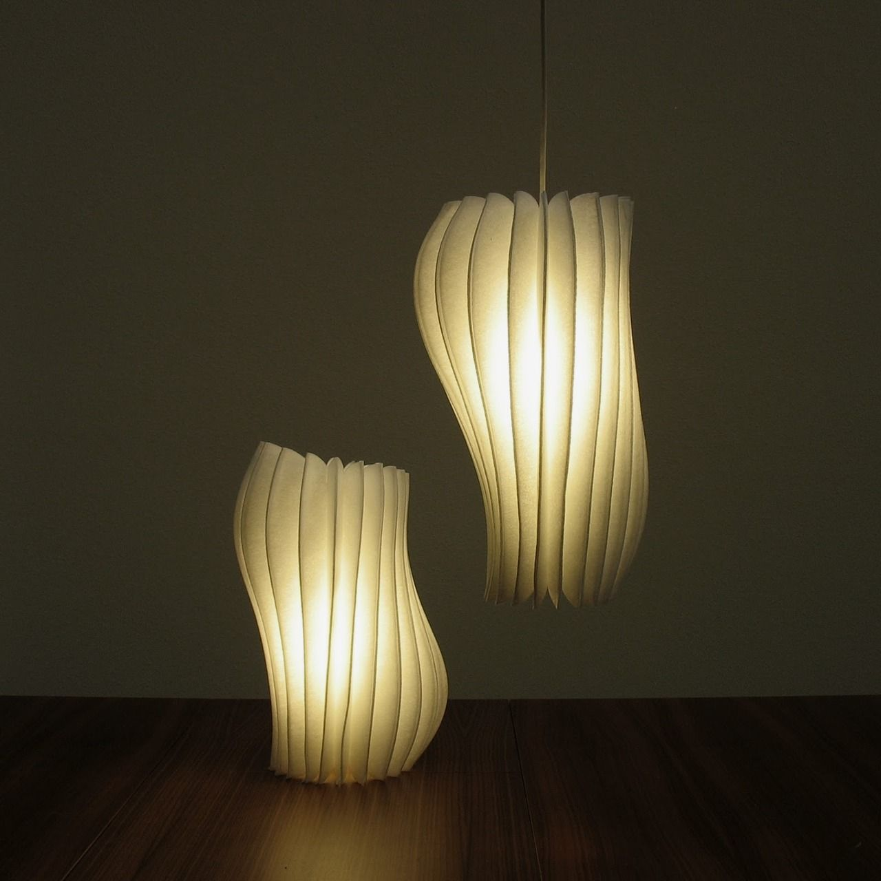 paper lamp in pale beige | lighting . Beleuchtung . luminaires ... for Creative Paper Lamps  300lyp