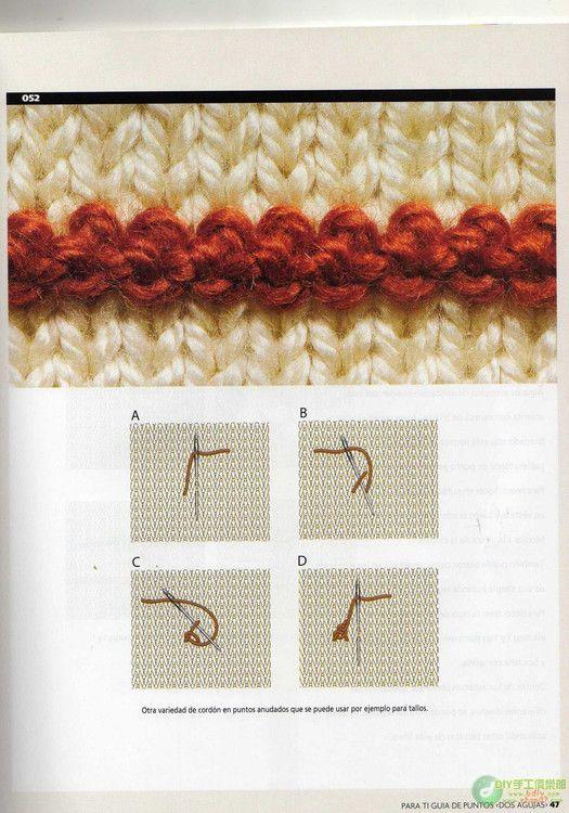 Guia de Puntos Bordados en Tejido Crochet - Patrones Crochet ...