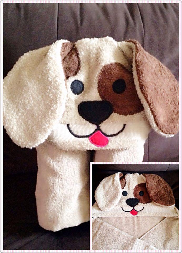Puppy Kid Hooded Bath Towel Hooded Towel Diy Towels Kids Baby