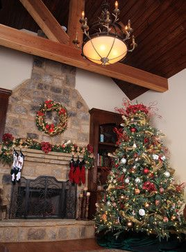 Rustic Fireplace Mantles + Christmas Design Ideas Pictures Remodel and Decor - page 20 Lots \u0026 lots of ideas. & Rustic Fireplace Mantles + Christmas Design Ideas Pictures Remodel ...