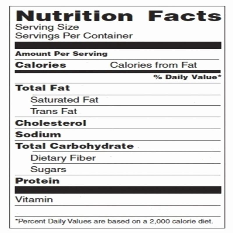 Nutrition Facts Label Template Excel Beautiful Blank Nutrition Label Template Excel To Food Label Template Nutrition Facts Label Template Nutrition Facts Label